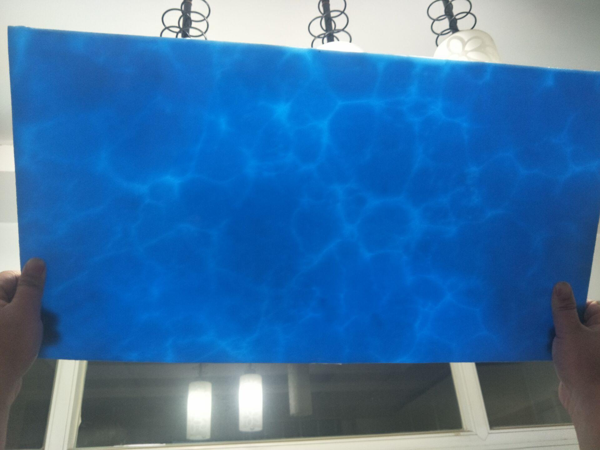 Oukai transparent plate light stone artificial stone alabaster stone cloud imitation marble resin plate light sheet