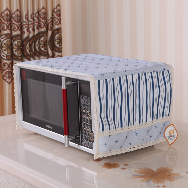 Sea breeze series, English wind, polyester cotton microwave oven, beautiful microwave oven cover, microwave oven hood, dust cover, oil proof