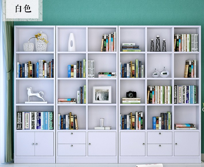 All over the country! Korean IKEA multifunctional free combination bookcase bookshelf bookcase simple modern bookcase