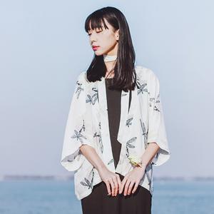 和服开衫女复古风夏小清新学生雪纺披肩防晒衣短款薄改良日式外套