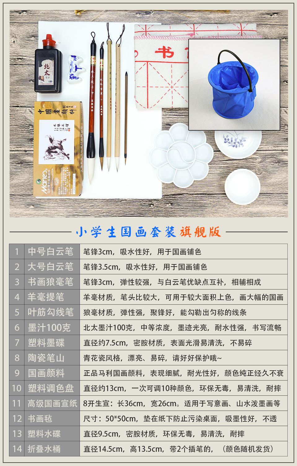 Bao rivestiti di entrata Nello Studio Quattro strumenti per principianti dipinto nel dipinto di Piccole scatole di strumenti di pigmenti DI STUDENTI cinesi