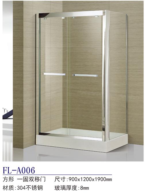 La costumbre de acero inoxidable 304 duchas de baño en forma de partición pantalla un cuadrado de puerta corrediza