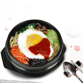韩式石锅拌饭专用石锅碗商用耐高温大小号米线沙锅土豆粉明火燃气