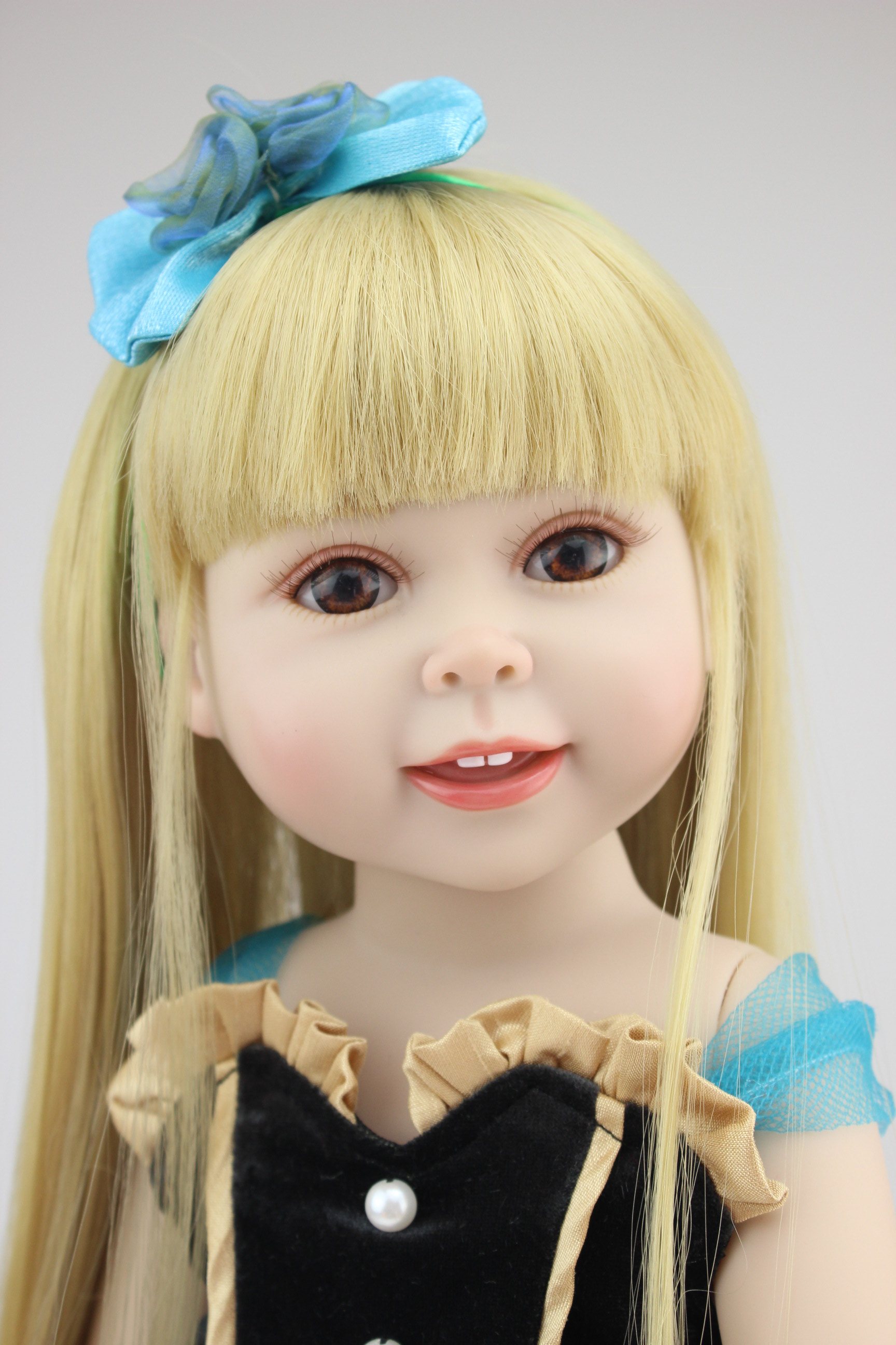 Cheap wholesale 18 Smiling brown Eyes American Girl Doll Toys