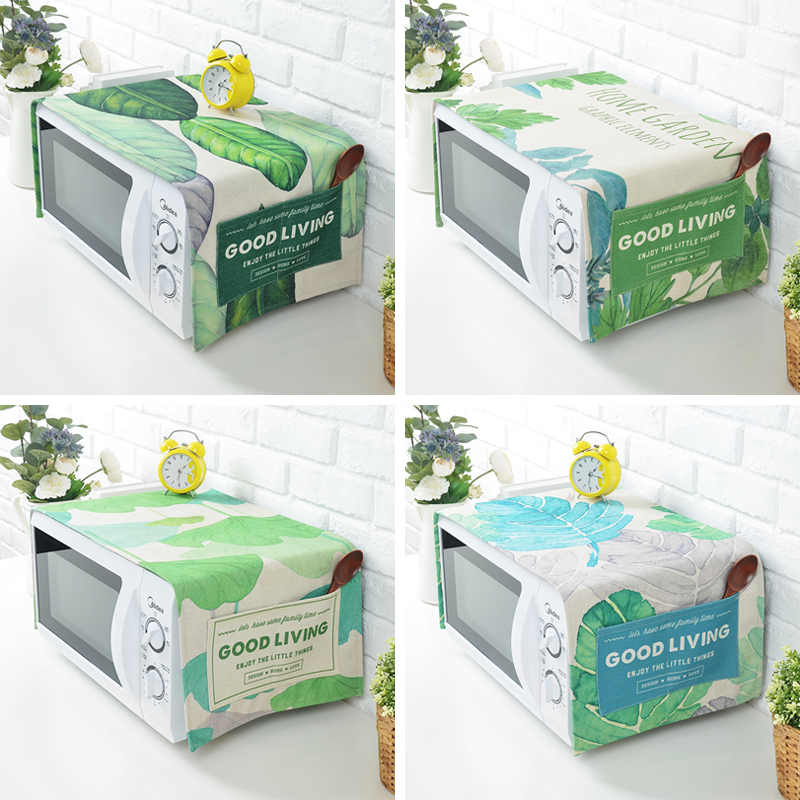 The microwave oven cover cloth cotton pastoral beauty Galanz oven bag dust cover oil proof cover towels.