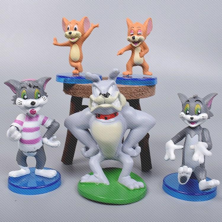 Η παράγραφος 9 καρτούν γάτα και το ποντίκι κούκλα μοντέλο οχήματος στολίδια παιχνίδια χέρια δώρο γενεθλίων έπιπλα κούκλα παιδιά