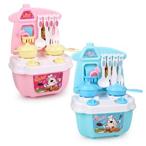 儿童仿真小厨房灶台煮饭玩具套装女童女孩宝宝炒菜做饭过家家厨具