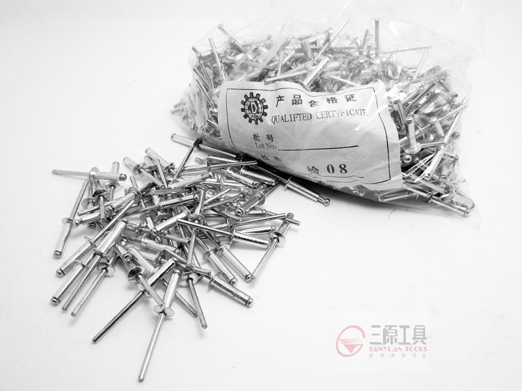 Boutique rebite rebite rebite de metal caixa de ferramentas completa de especificações de alumínio para vender um pacote de correio