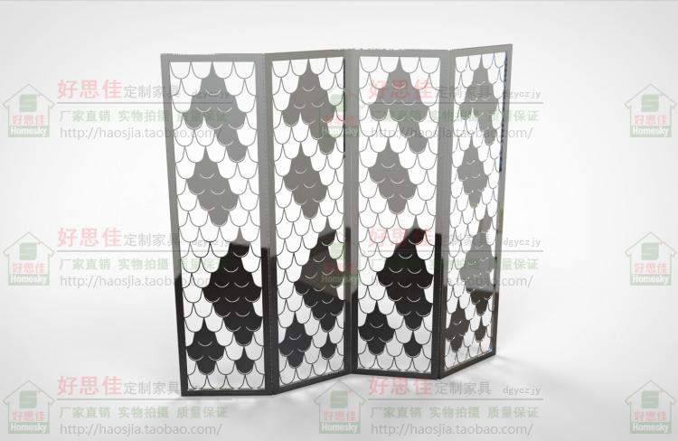 Folding stainless steel champagne golden screen, partition window, custom scale screen, folding screen, folding screen 8011