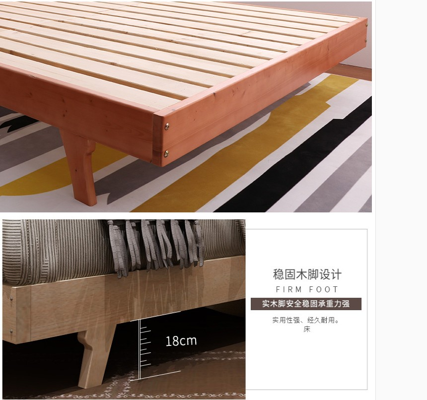 Shipping real bed single bed double bed simple bed loose children bed simple modern Zhuwo bed 1.8 meters