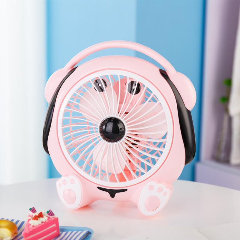 Dibujos de gran blanco mini ventilador de escritorio en el dormitorio de la residencia de estudiantes pequeño ventilador ventilador silencioso ventilador de la Oficina