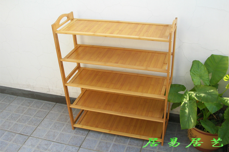 木防尘靴架加厚置物架竹子鞋柜多功能收纳储物架