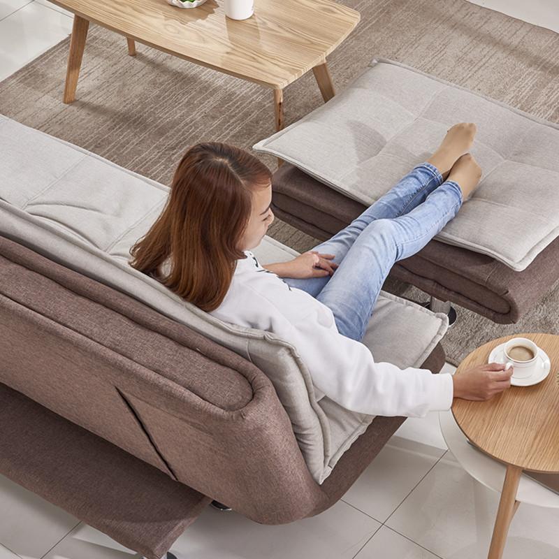 新型多機能の布でカジュアル小型折りたたみソファベッド1 . 5メートルシングルペアリビング怠け者砂