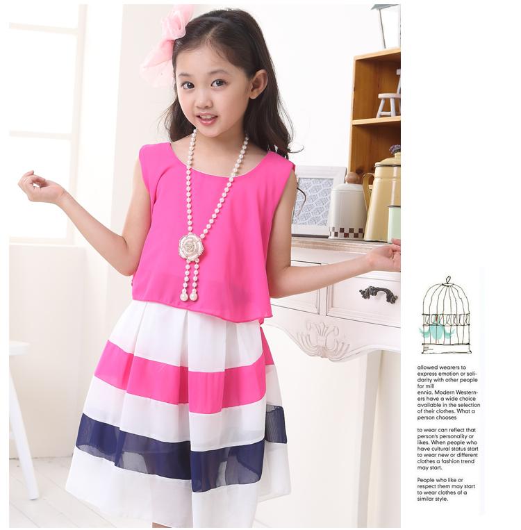 童装女童连衣裙夏装15女大童儿童裙子10-11-12岁女孩