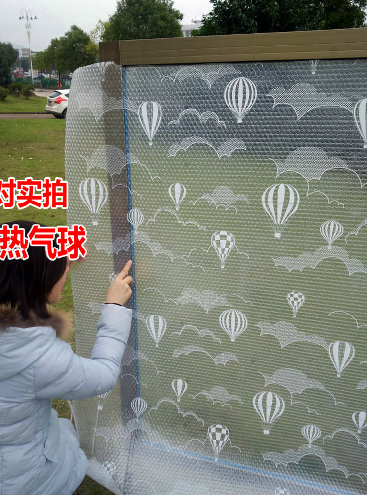 No glue electrostatic glass insulation film, winter cold proof, warm and translucent, winter window insulation film, door and window glass film