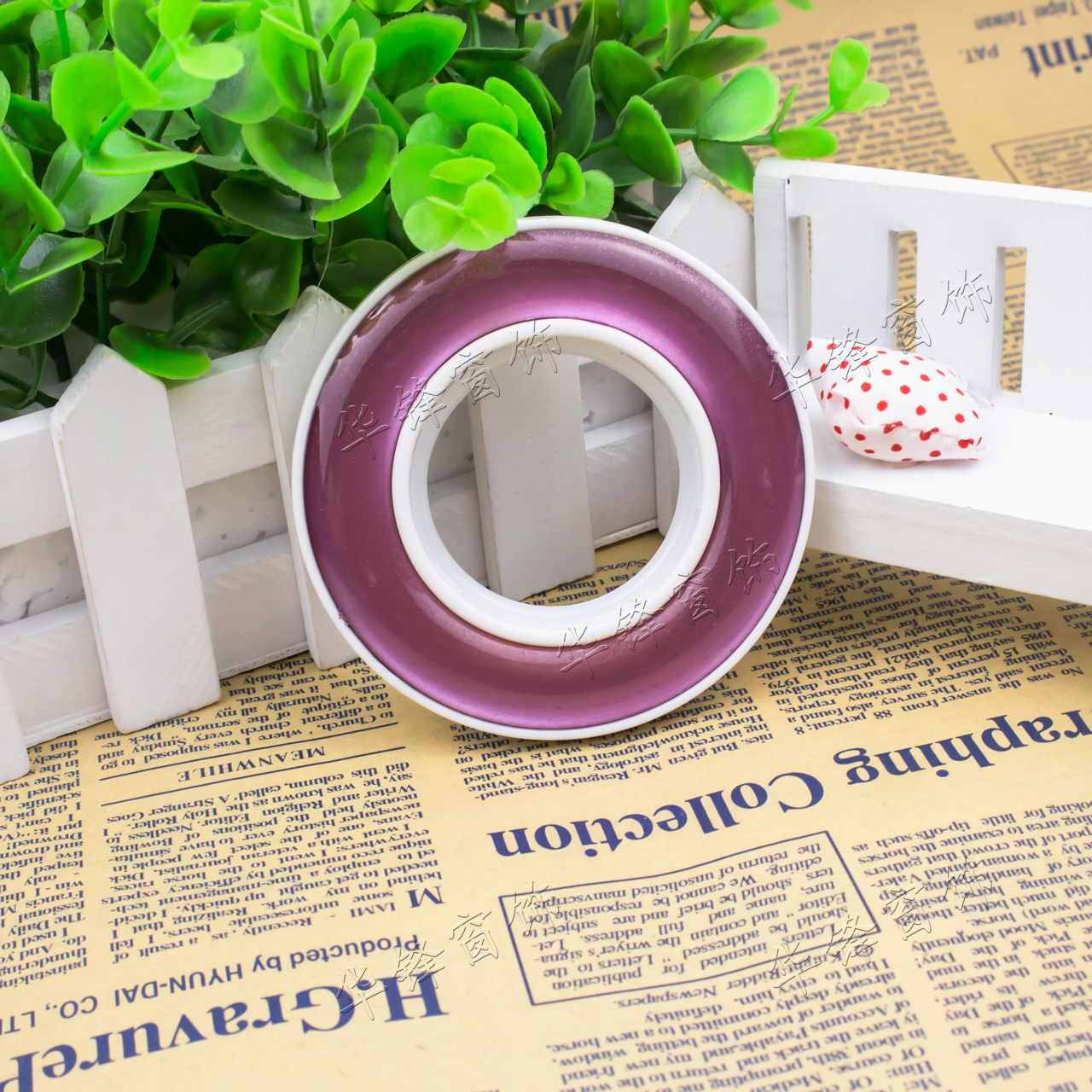 Curtain accessories Rome rod track pulley nanometer circle wall hook crystal ring Roman circle price promotion box 50