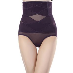 高腰产后女士健康塑身内裤网纱透气美体提臀收腹裤