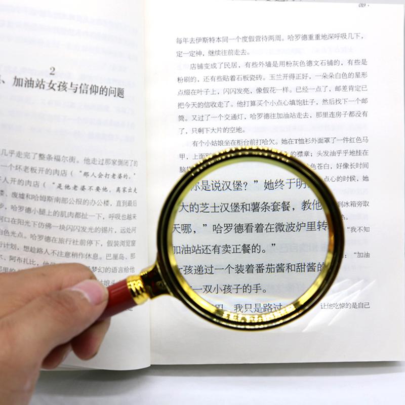 手持ちポータブルルーペ読書児童生徒の高齢者で高清光学レンズろく倍拡大80MM