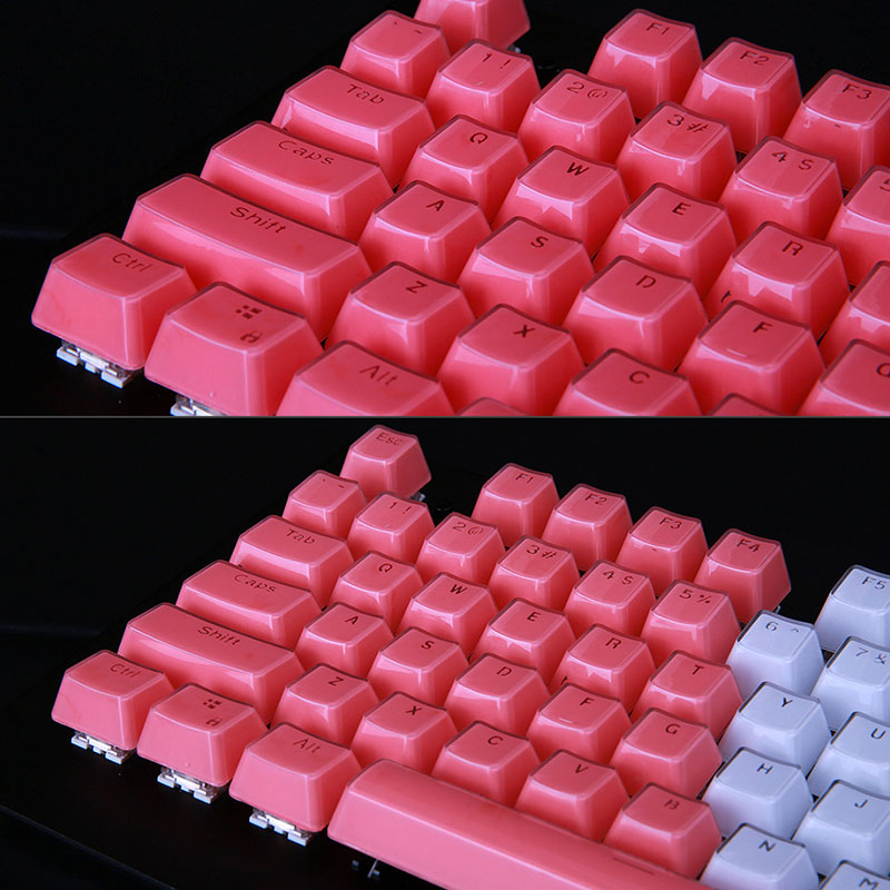 Teclado mecânico através de Magia Luz ABS 87 Palavras Pato e 104 teclas de Cristal, Kay.