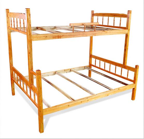 الاقتصاد نوع السرير سرير الخشب الصلب 1M مبيتا سرير خشبي التنوب 1.5 متر مركب السرير السرير سرير نوم الموظفين