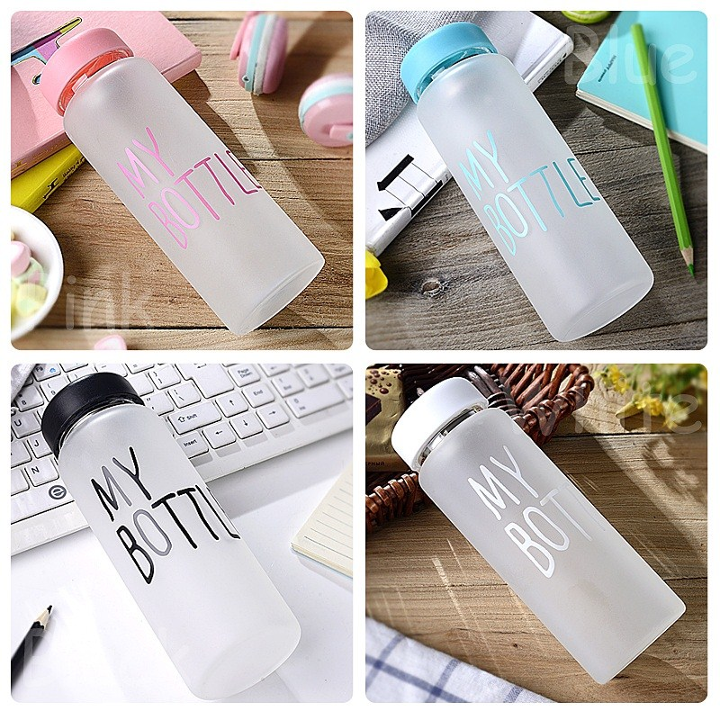 Creative glass female students Korean version water cup fresh personality, long and thin, fading and transparent and transparent lemon cup