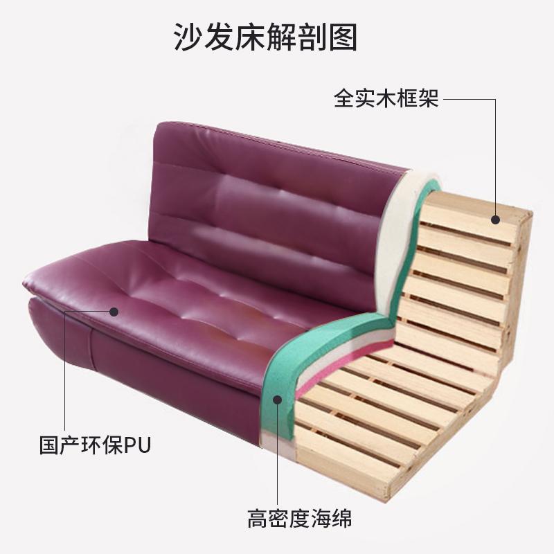Πολυλειτουργικά πτυσσόμενο καναπέ - κρεβάτι διπλής χρήσης στο σαλόνι απλό καναπέ - κρεβάτι διπλά το μικρό μέγεθος της σύγχρονης IKEA απλό
