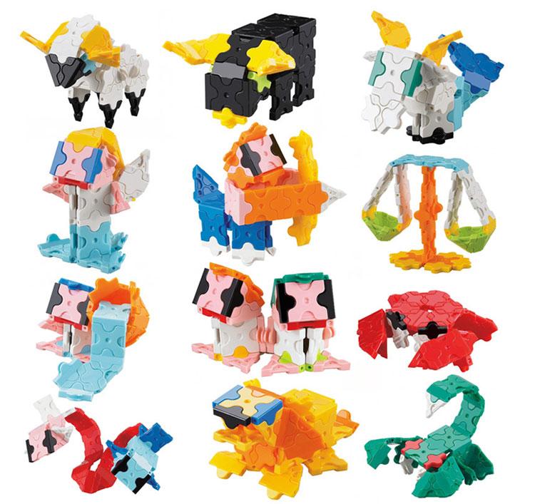 智模型拼装娃娃3d行者三角龙霸王龙立体恐龙400片拼插智力玩具积木抓不准的央视图片