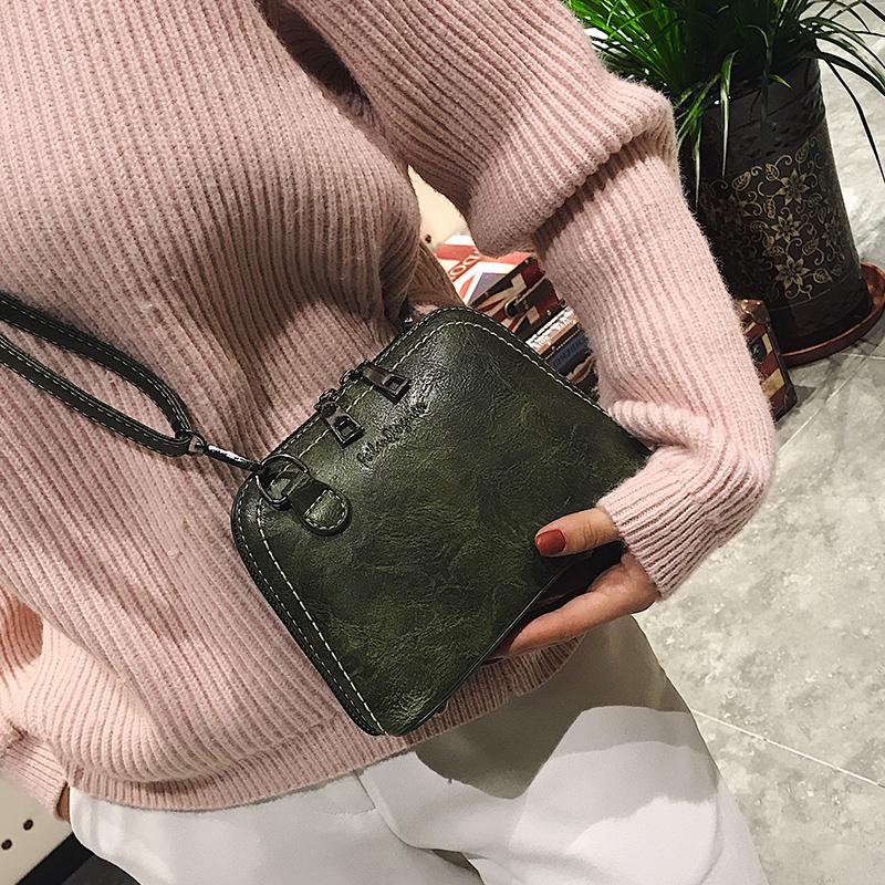 包包女2017新款简约女包迷你贝壳包时尚单肩包复古斜挎包小包包潮