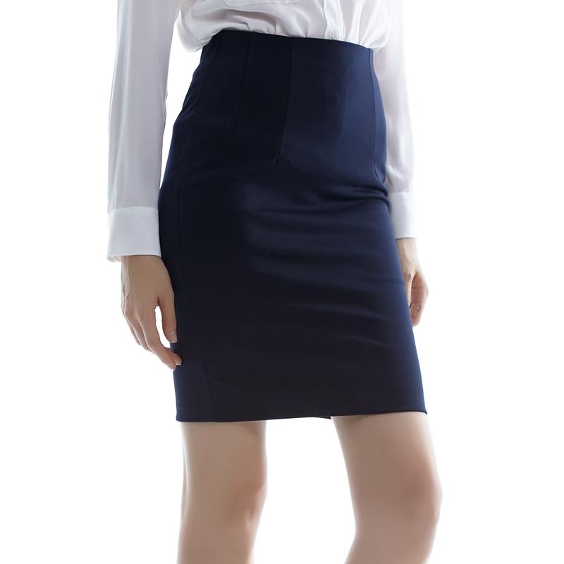 2017春秋新款OL中長款職業裙西裝高腰裙包臀裙修身半身裙一步裙女