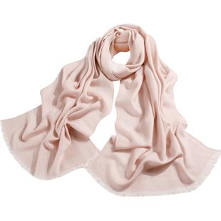 秋冬季韩版百搭长款薄披肩围巾