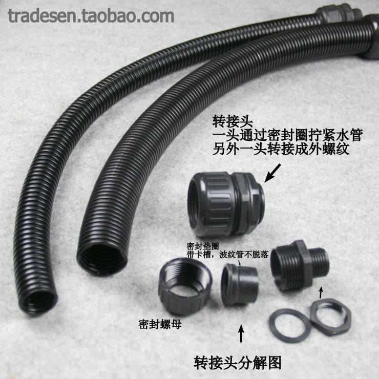 El agua de la manguera corrugado de nylon plástico corrugado helicoidal tubo ondulado de nylon.