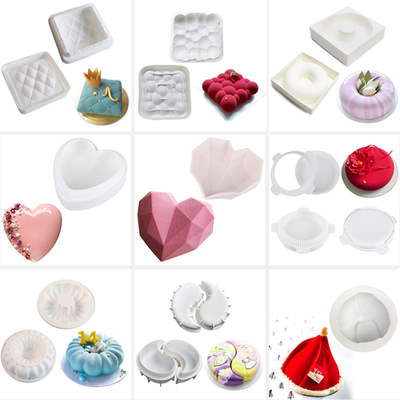 3D Cake Mould AiChef Mousse Silicone Mould French Dessert Italian Chocolate Heart Shape West Point Baking Cake