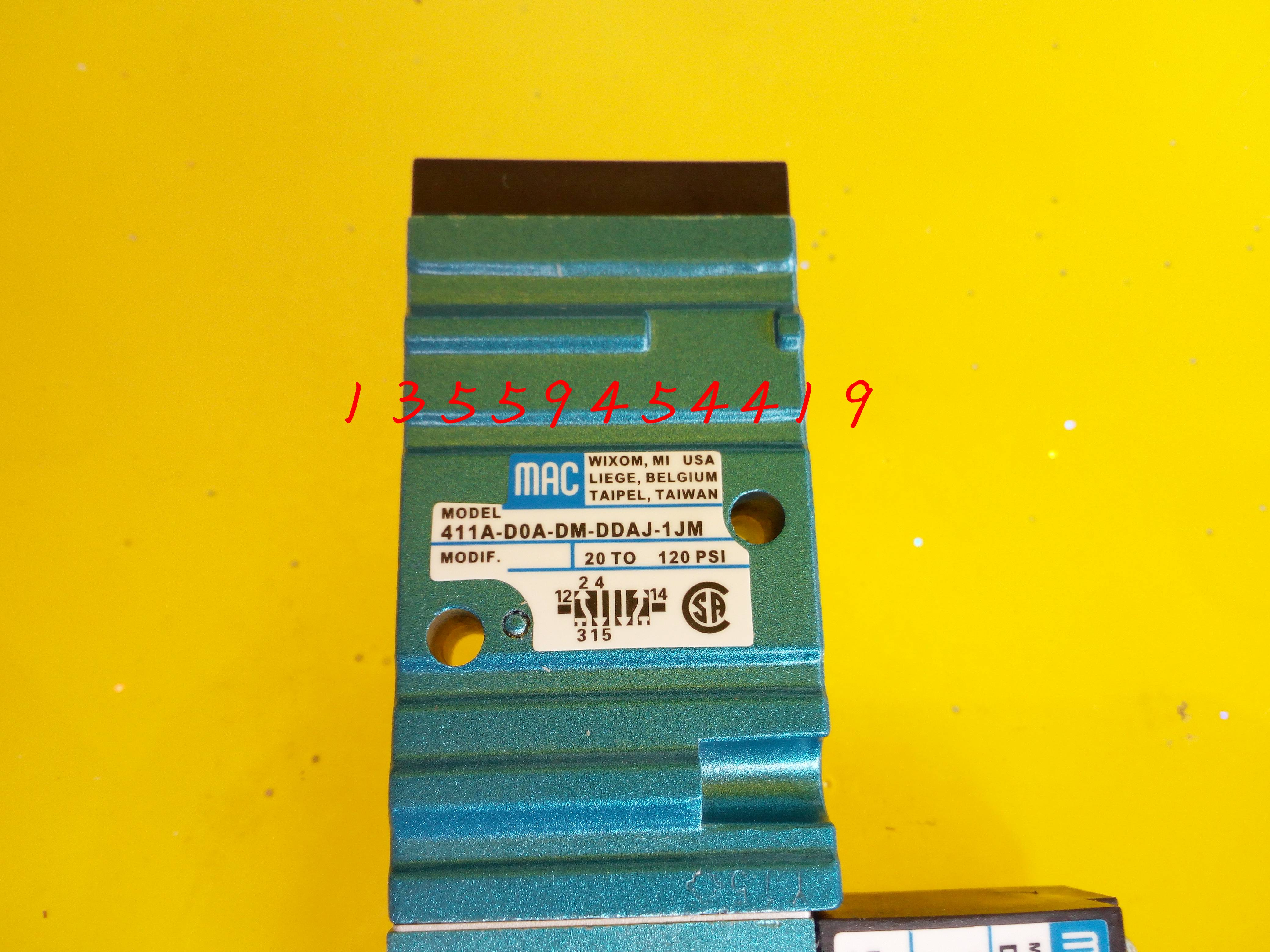 americké mac elektromagnetický ventil 411A-D0A-DM-DDAJ-1JM originální megas vak na poštu smlouvání.