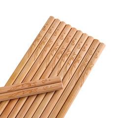 天然无漆无蜡中式竹筷家庭装快子家用实木防滑长筷子30双套装定制