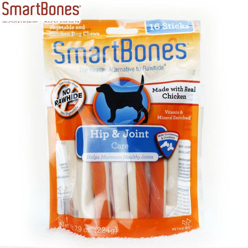 Les États - Unis de l'articulation de la nutrition SmartBones Volume 16 chargé de gomme à mâcher de l'os de chien manger de friandises pour animaux de compagnie
