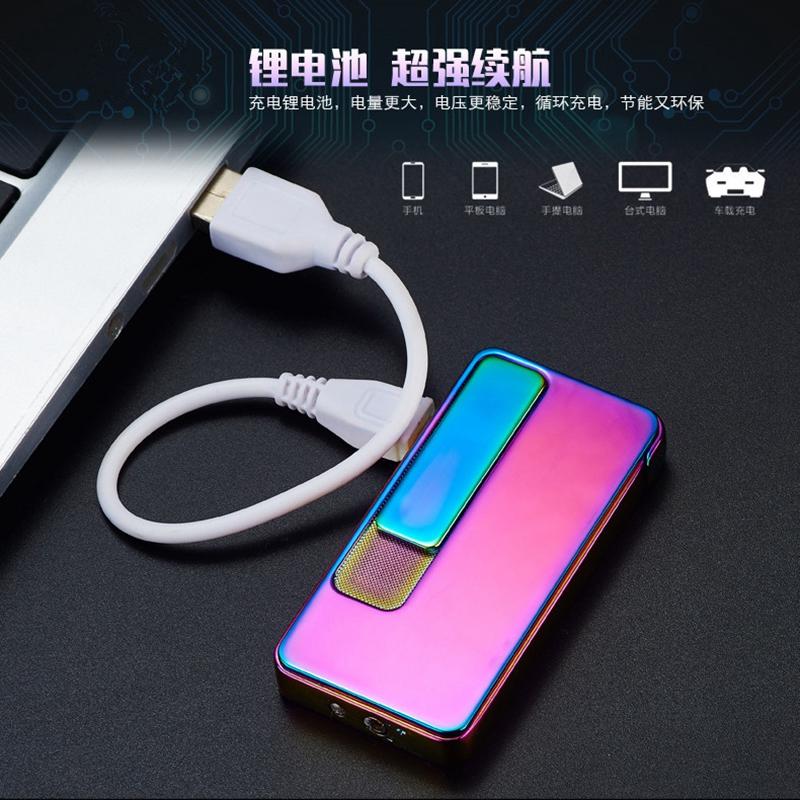 El encendedor eléctrico de doble efecto de carga usb - encendedor con bolsas de regalos de la personalidad de los hombres de letras