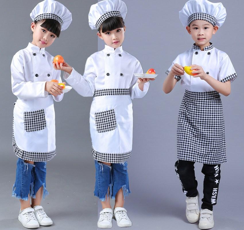 長袖款100cm兒童廚師服幼兒演出服小孩游戲職業服裝表演少兒小廚師扮演服