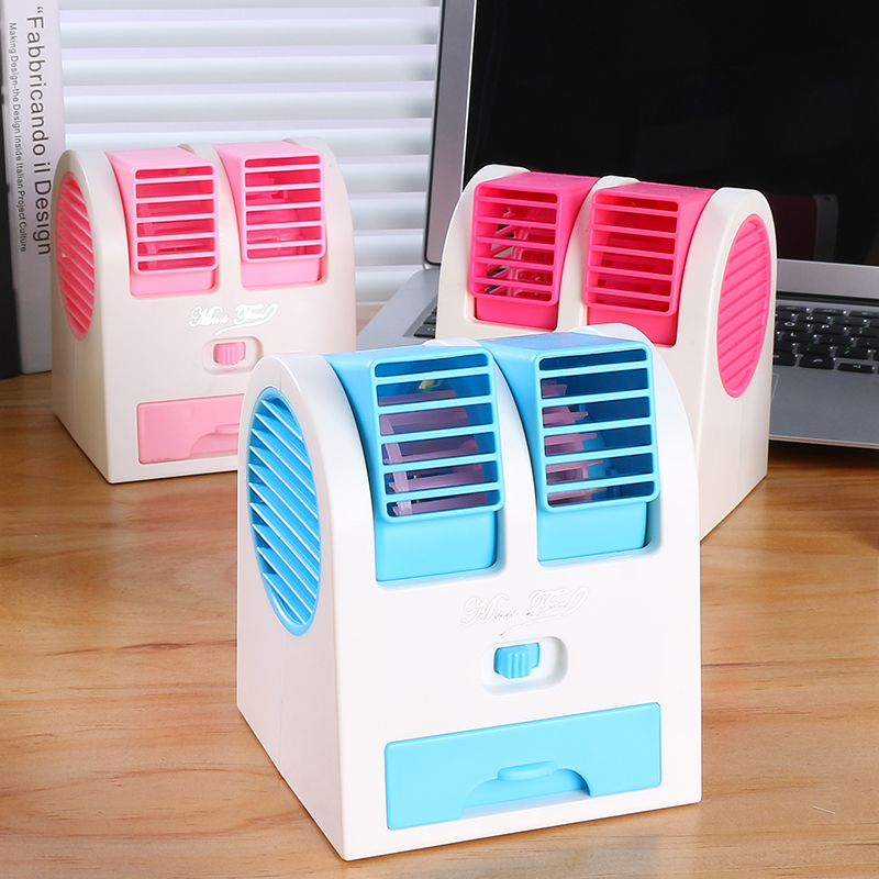 Summer small fan desktop portable portable small student dormitory cooling air-conditioning Mini silent fan