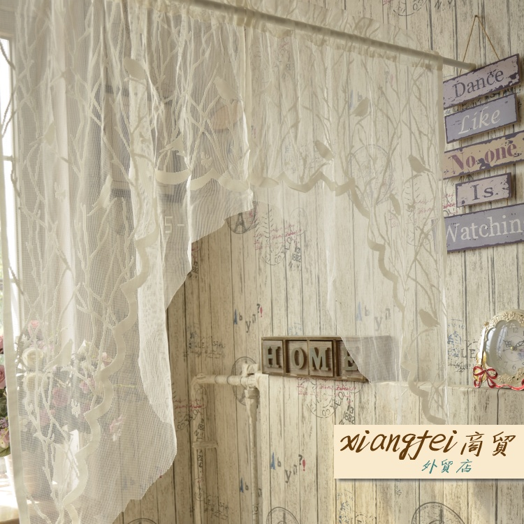 Foreign trade small birds, curtains, curtains, curtains, kitchen curtains, bathrooms, fabric curtains, partition curtains treatment
