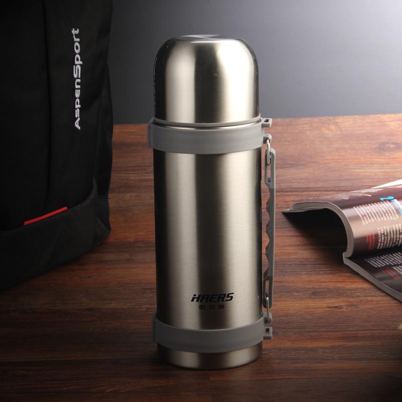 Халс теплоизоляции большой потенциал мужчин и женщин Открытый кубок нержавеющая сталь вакуумной теплоизоляции чайник туризма чайник портативный термос