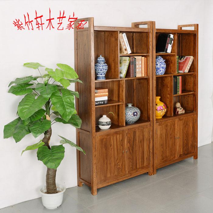 Estantería de madera con la combinación de olmo estantes de almacenamiento con el casillero libre de muebles estilo moderno minimalista