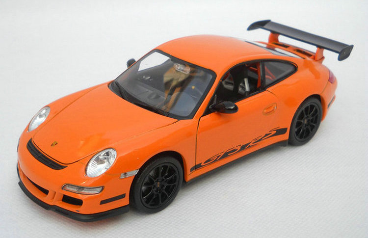[] simulation eleganz - Welly statischen Automobil - Modell Porsche 911 GT3 Orange Willy 1: 24