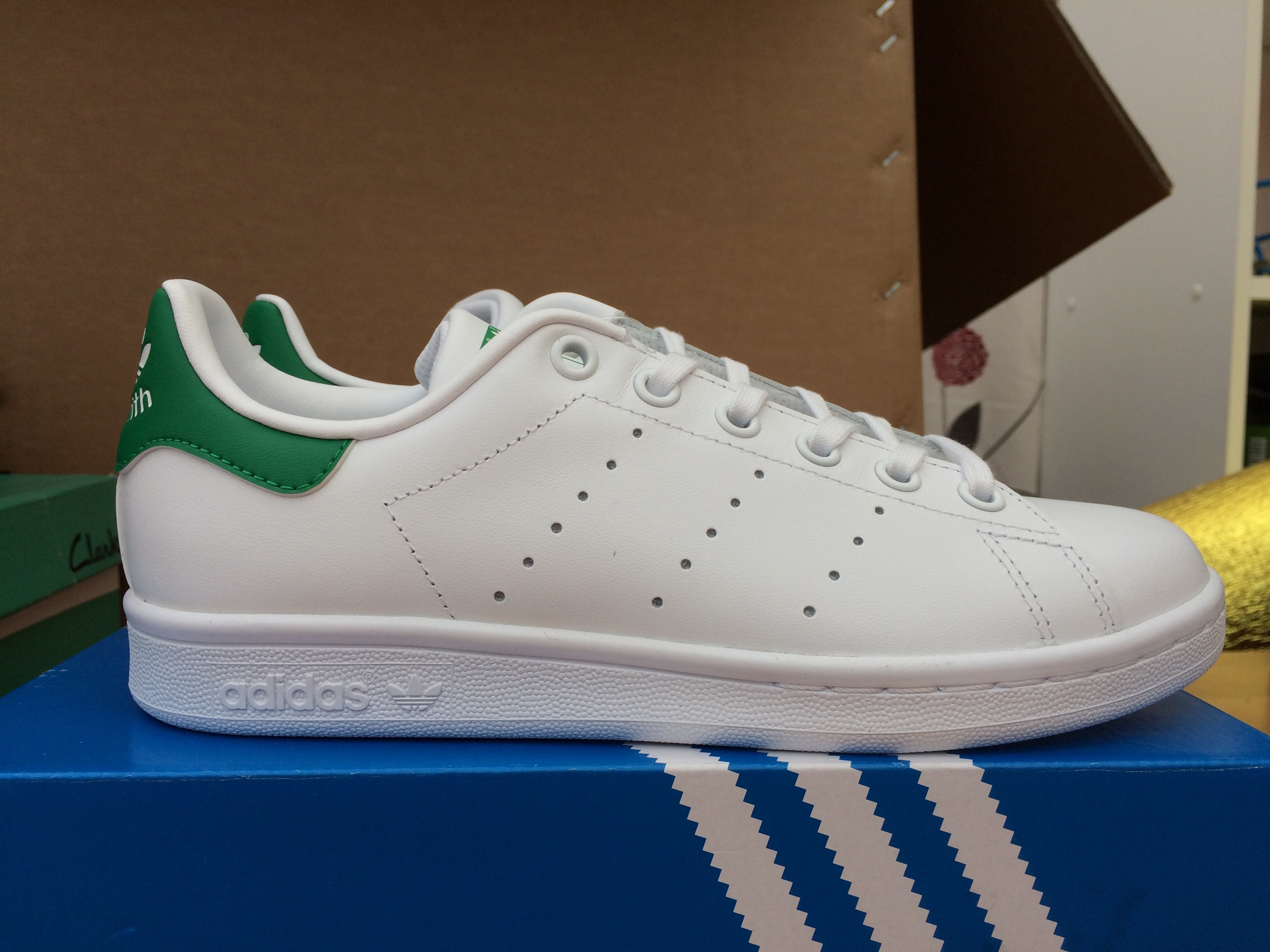 Adidas STANSMITH green tail white shoes M20605