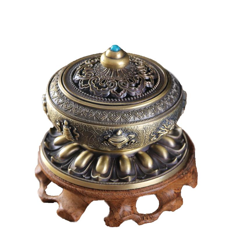 вспять кадило творческих украшения сандалового дерева печи керамическая горелка Садо благовония, Будда гуаньинь бергамота ладан сиденья с украшения