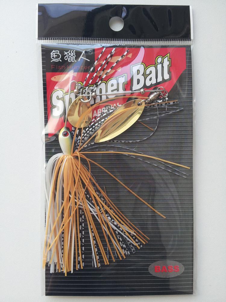 魚ハンターひげ人路亜複合回転スパンコール7g / g / 14g単竿双片路亜ルアーについて