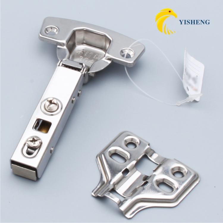 Yi Sheng aço inoxidável dobradiça armário porta dobradiça de porta de armário de amortecimento hidráulico de aeronaves para dobradiça hardware