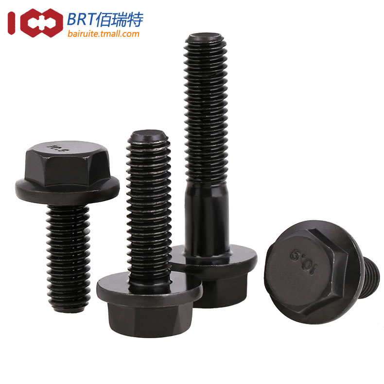 10.9 level six flange bolt with large flange screw six angle with pad M10M12M14M16