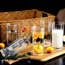 玻璃杯子套装水杯果汁啤酒杯牛奶喝水杯耐热泡茶无盖客厅茶杯家用