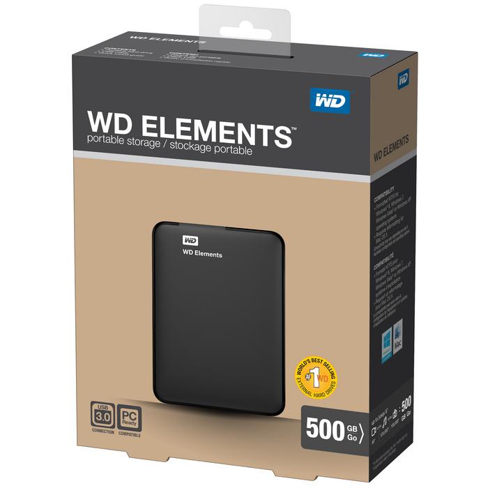 Neu!Im Westen der WD/ Daten 500GWDBUZG5000ABK neUe e - mobile festplatte 500g elemente