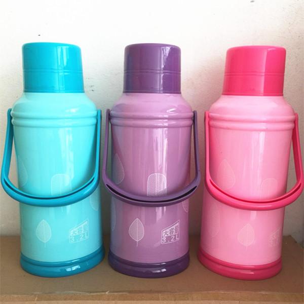 ポットガラスで中身が魔法瓶大容量魔法瓶まほうびんプラスチック魔法瓶茶瓶殻学生